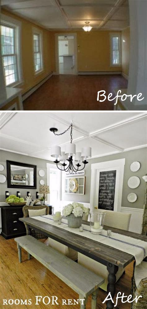 easy and budget friendly dining room makeover ideas hative