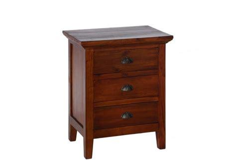 petit meuble d appoint 3 tiroirs acajou 55 x 40 x 68 cm