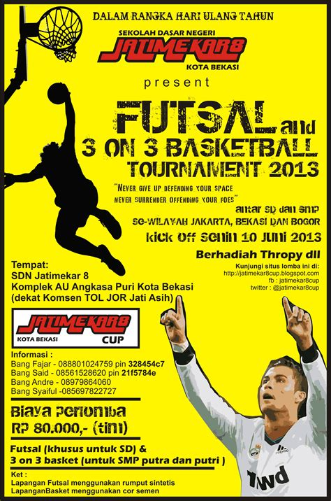undangan futsal dan 3 on 3 basket tournament 2013