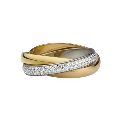 ring cartier 3 gold diamonds b4086000