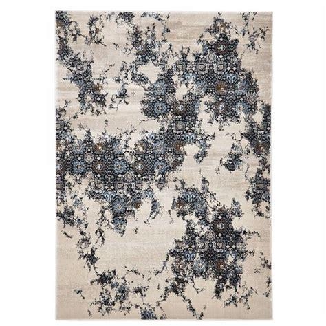turkish made rembrandt designer rug in ivory blue 290x200cm