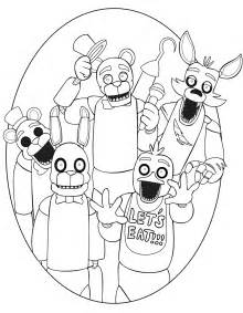 Five night at freddys coloring pages and print butik work