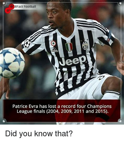 Evra Meme - e 8fact football jeep patrice evra has lost a record four