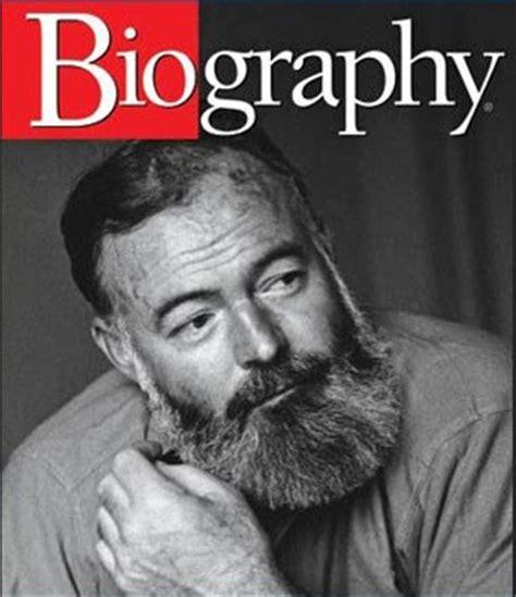 biography of ernest miller hemingway celebrity biography