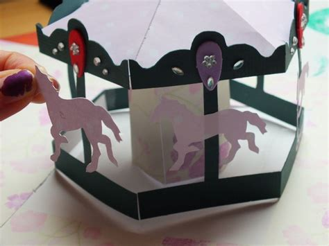 diy carousel pop up card template carousel pop up card 183 how to make a pop up card