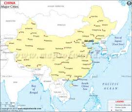 map showing location of all major cities in china maps