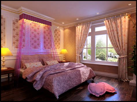 how to decorate a pink bedroom continental bed room pink tone 3d model download free 3d