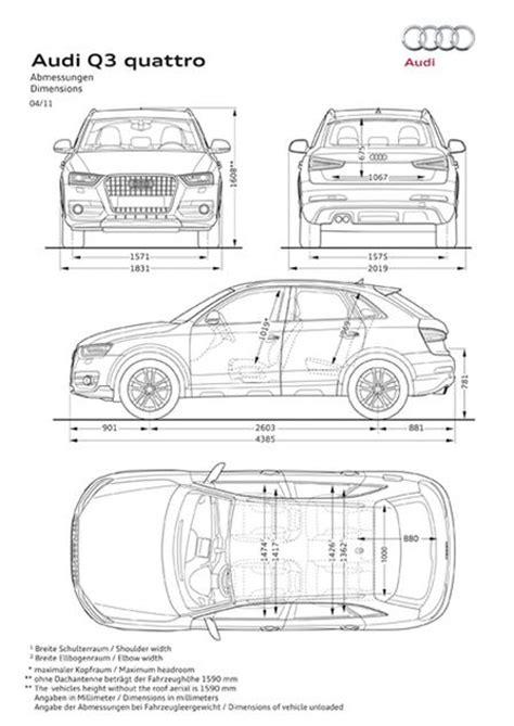 Abmessungen Audi Q3 by Audi Q3 2 0 Tdi Quattro 2011 Autokatalog Ma 223 E