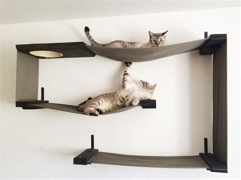 cat wall furniture fabric cat maze cat hammock shelves by catastrophicreations