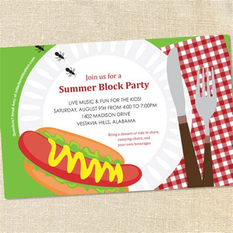 party invitations how to create block party invitation