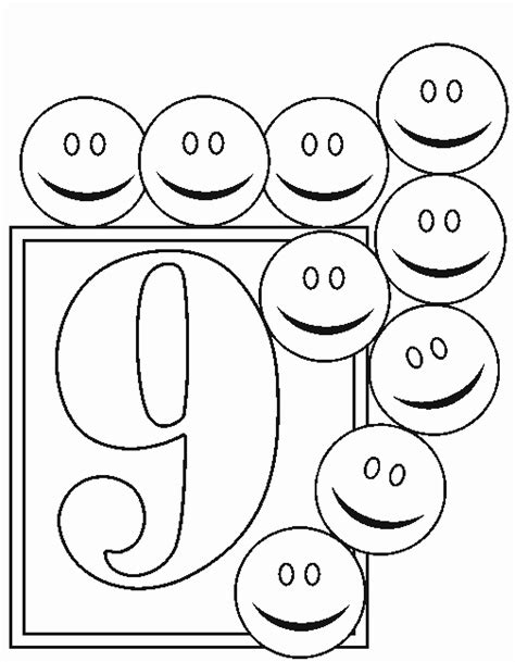 Numbers 9 Coloring Page Coloring Pages For 9 And Up