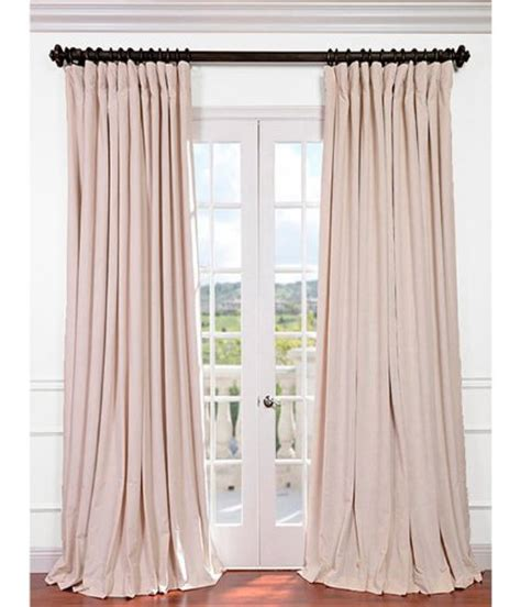 ivory velvet curtains half price drapes vpch vet1217 96 signature doublewide