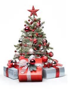 fototapete dekoriert weihnachtsbaum und geschenke