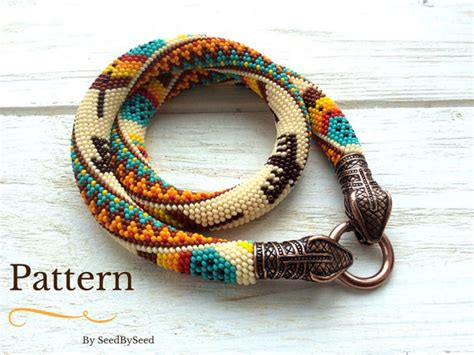 seed bead crochet patterns bead crochet pattern aztec american feathers eagle