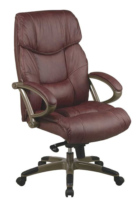 Brown Computer Chair Design Ideas Adjustable Brown Leather Fortable Desk Chairs Interior Designs
