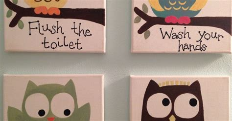 kids owl bathroom kids owl bathroom art hometalk