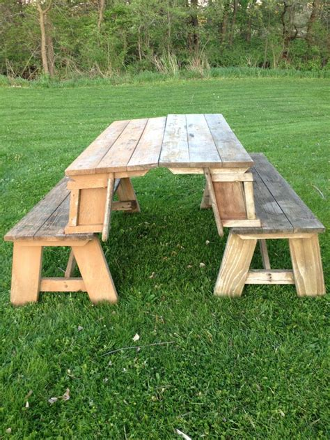 picnic table that folds into a bench 811 best garden picnic tables images on pinterest