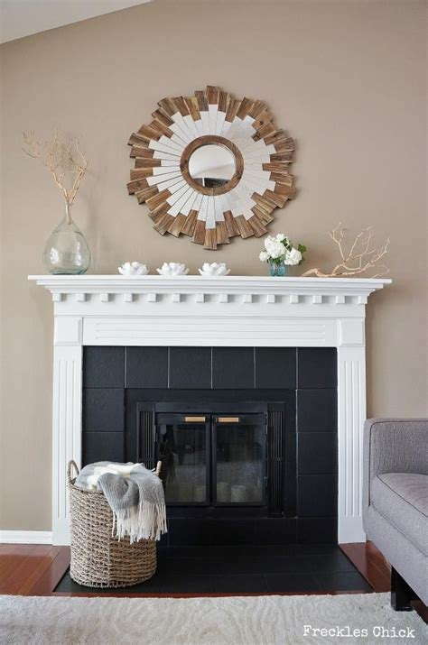 Black And White Fireplace Tiles by 25 Best Ideas About Tile Around Fireplace On Marble Hearth Mantel Clock Design And