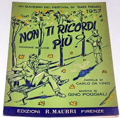 come il sole all improvviso testo festival di sanremo 1957 i cantanti le canzoni i testi