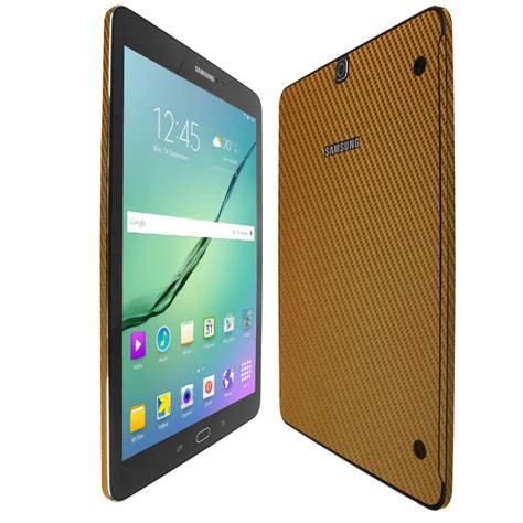 Samsung Tab S2 9 7 Gold skinomi techskin samsung galaxy tab s2 9 7 gold carbon fiber skin protector wifi lte compatible