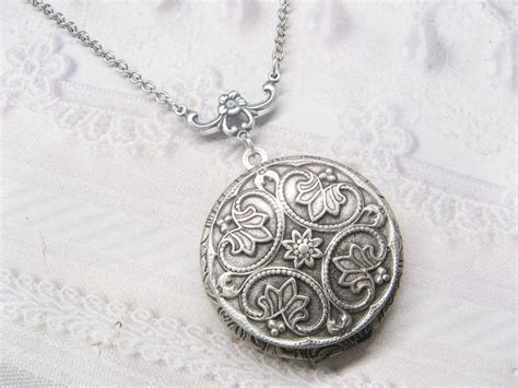 lockets for jewelry silver locket necklace silver victoriana by