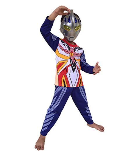 Kaos Setelan Anak Laki Laki Ultraman Orb jual baju anak kostum topeng ultraman belalangkupukupu