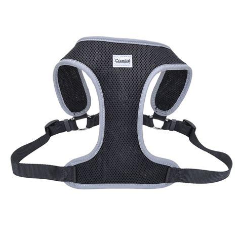 reflective harness coastal pet coastal pet comfort soft reflective wrap adjustable harness black