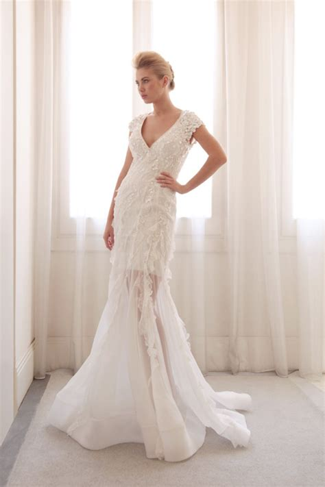 Wedding Dress Overlay by Sheer Overlay Wedding Gown By Gemy Bridal Onewed