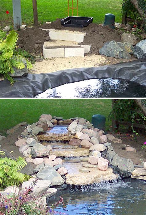 garden pond ideas waterfall photograph diy garden waterfal