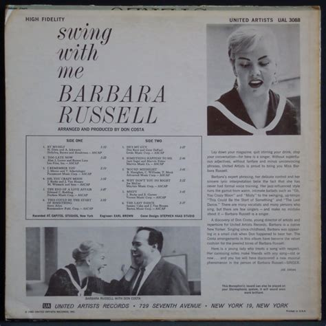 swing with me barbara russell swing with me female vocal レコード通販 waxdiva