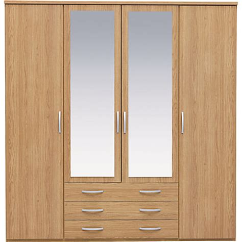Wardrobes Homebase by New Hallingford 2 Dr Sliding Mirrored Wardrobe Oak