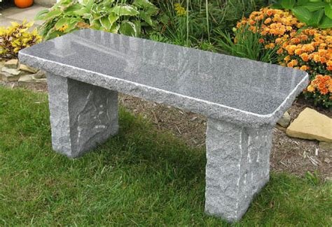 stone bench ideas charcoal granite bench stone age creations ltd
