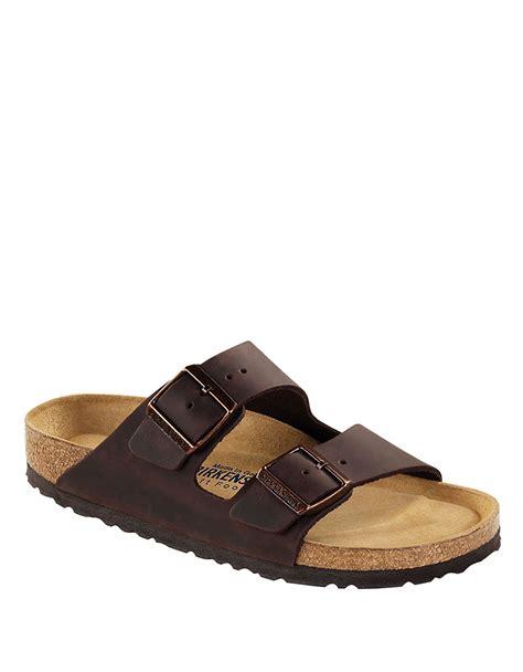 birkenstock designer sandals birkenstock arizona habana leather sandals in brown