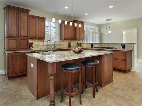 Light Brown Kitchen Brown Kitchen Cabinets Modification For A Stunning Kitchen Homestylediary