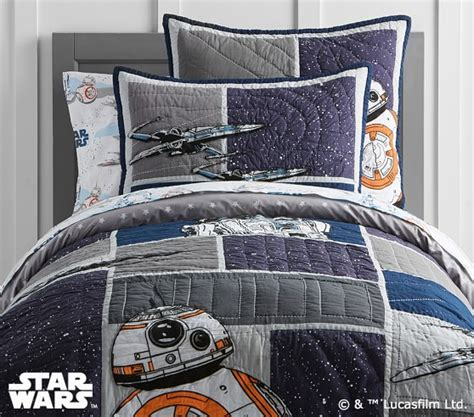 starwars bedding star wars droid quilted bedding pottery barn kids