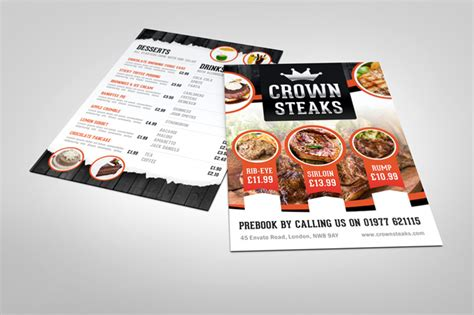 menu design mockup half fold menu mock up graphicriver