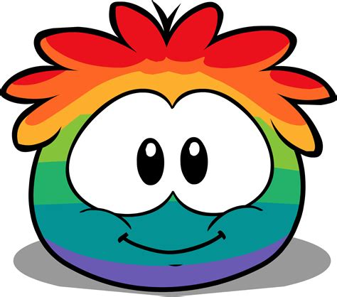 club penguin rainbow hair puffles club penguin cutouts