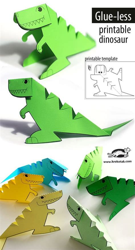 Dinosaur Papercraft Templates - 25 best ideas about dinosaur template on