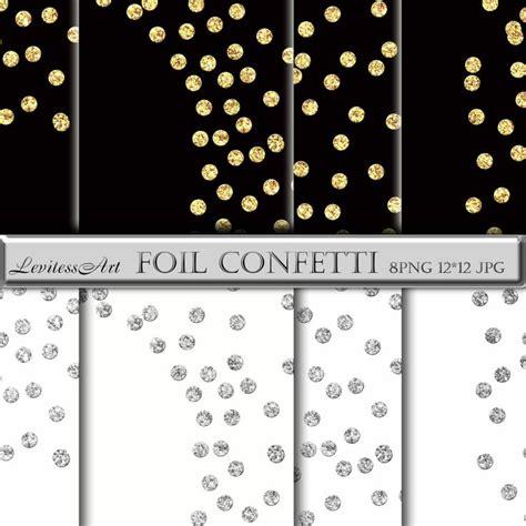 sparkling confetti overlay clipart gold glitter confetti foil clipart gold and silver glitter polkadots