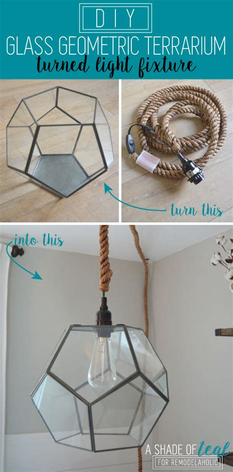 Make Your Own Pendant Light Kit Remodelaholic Terrarium To Geometric Pendant Light