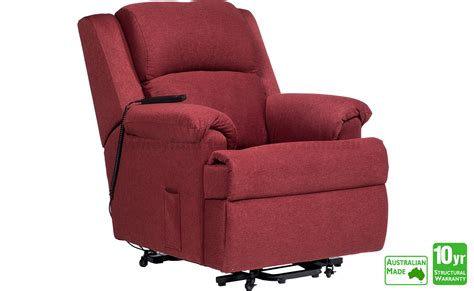 electric recliner chairs sydney carlton electric lift chair in fabric sit stand