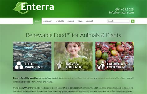 web design project for enterra feed corporation