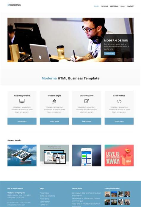 free bootstrap template for corporate moderna 80 best free responsive html5 templates techclient