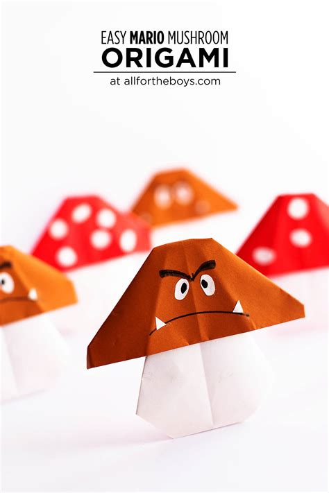 How To Make Origami Mario - easy mario origami all for the boys