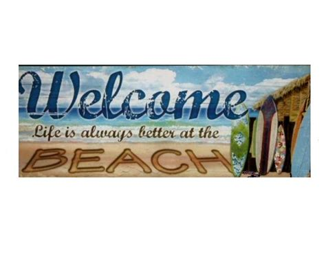 home decor stores in virginia beach beach welcome sign wooden plaque