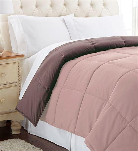 mocha bed linen mocha dusty pink reversible comforter modern