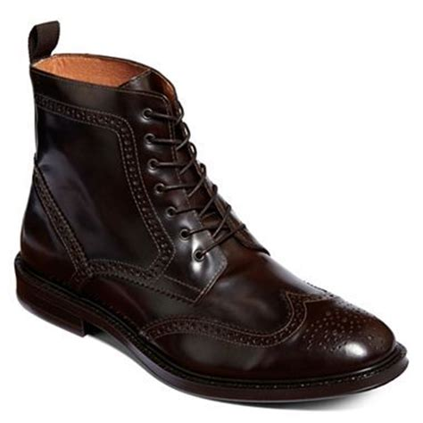 jcpenney mens boots stafford 174 kent mens wingtip boots jcpenney oliver