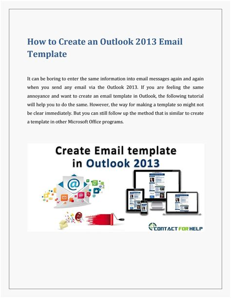 Use Email Template Outlook 2013 by Create An Email Template In Outlook 2013 By Heydon