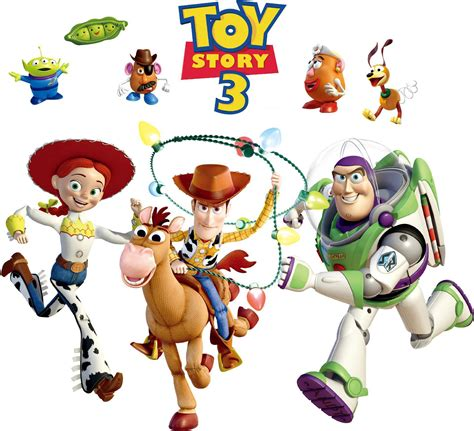 Barbie Wall Stickers removable pvc toy story 3 woody bullseye wall sticker for
