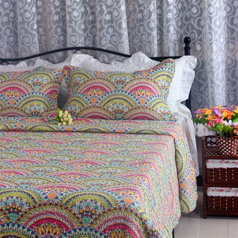 Patchwork Bedspreads For Sale - sale free shipping bright color king patchwork quilt
